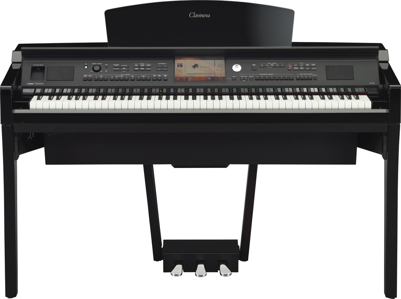 Yamaha Clavinova CVP 709 schwarz poliert