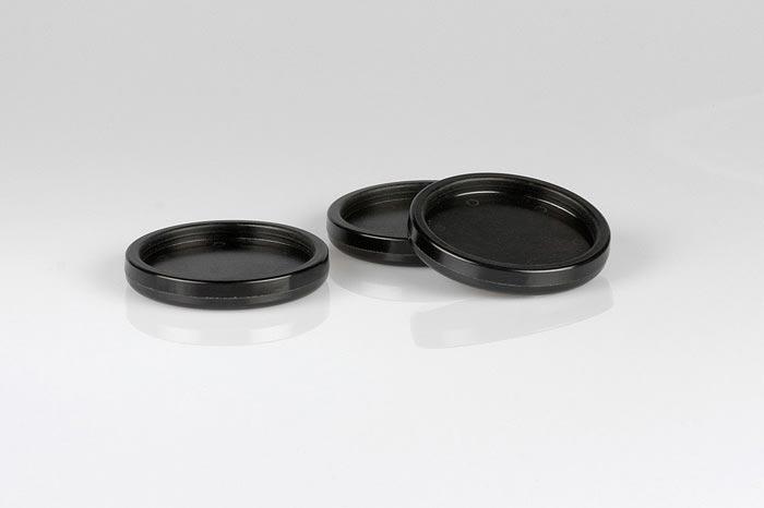 Kunststoffuntersetzer schwarz