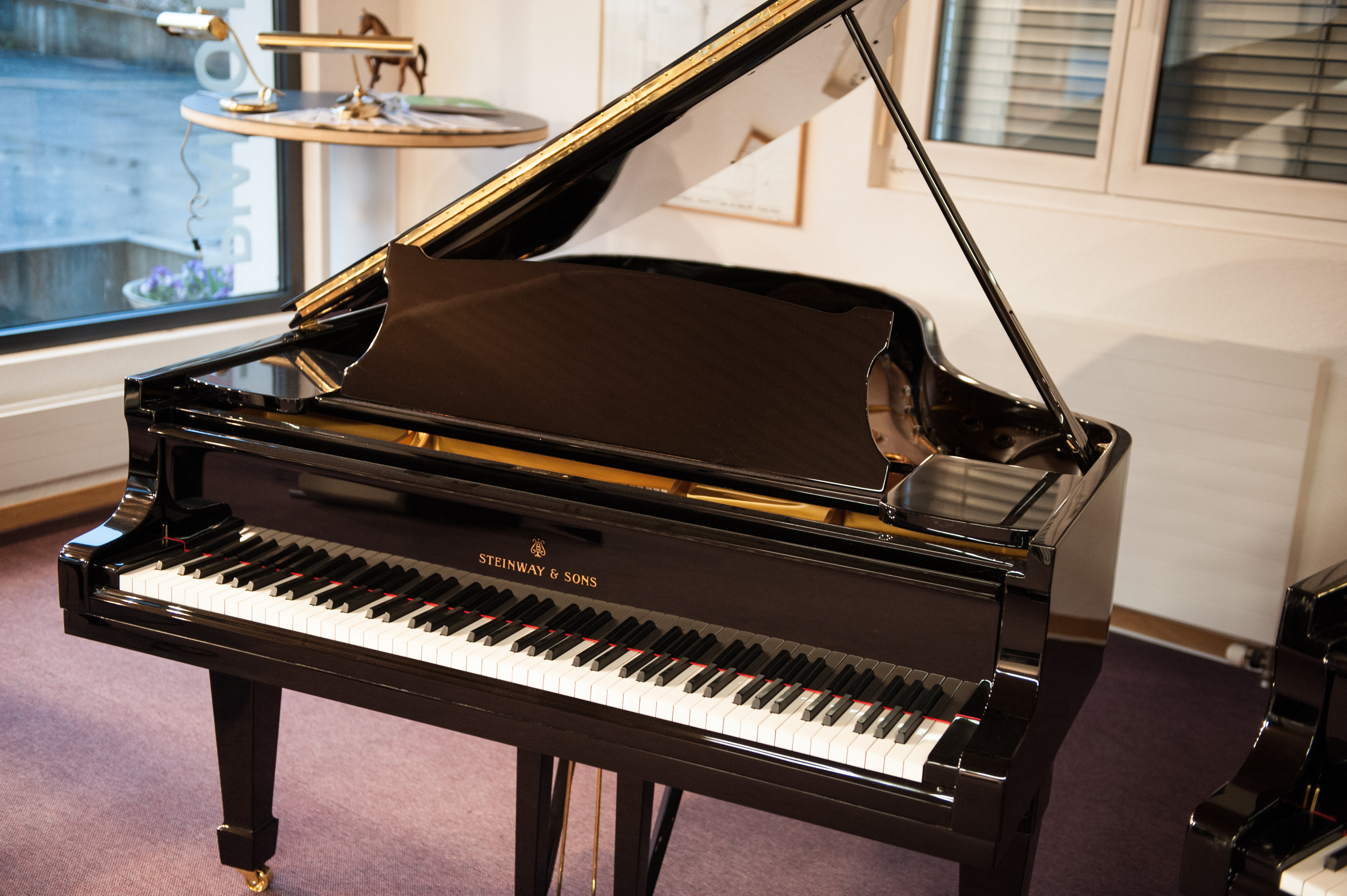 piano herzig ag steinway sons a188. Black Bedroom Furniture Sets. Home Design Ideas